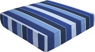 "Eddie Bauer Double Piped Indoor/Outdoor Sunbrella Ottoman Cushion Size: 5"" H x 26"" W x 24"" D"