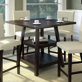Asstd National Brand Bistro Counter Height Dining Table with Shelves