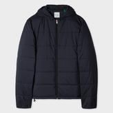 Paul Smith Men's Navy Lightweight Wadded Hooded Jacket