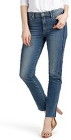 Paige Women's Legacy - Julia Tuxedo Stripe Raw Straight Leg Jeans