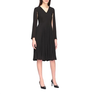 Kaos Cape Dress In Pleated Fabric