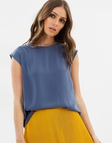 Oasis Soft Wrap Back Top