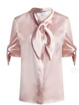 Dressarte Paris Pussy-Bow Silk Blouse