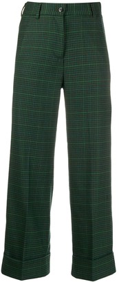 Brag Wette Cropped Checked Trousers