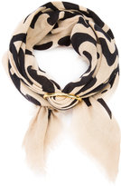 Lizzie Fortunato groovy floral scarf - women - Silk/Gold Plated Brass - One Size