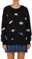 The Elder Statesman Women's Outer Space-Motif Cashmere Sweater
