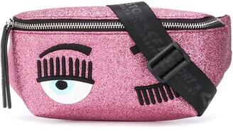Chiara Ferragni winking eye glittered belt bag