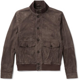 Tod's Suede Bomber Jacket