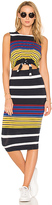 KENDALL + KYLIE Multi Stripe Tie Waist Dress