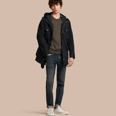 Burberry Hooded Bonded Cotton Field Jacket