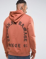 Criminal Damage Hoodie With Back Print