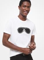 Michael Kors Aviator-Print Cotton Jersey T-Shirt