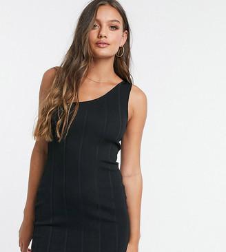 Miss Selfridge Petite bandage mini dress in black