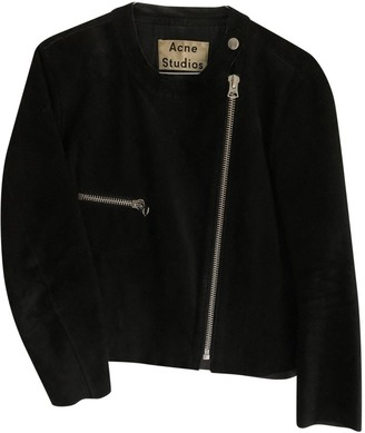 Acne Studios Black Suede Leather jackets