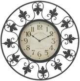 "Olivia & May 23""H Metal Outdoor Clock - Black"