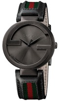 Gucci Interlocking 42mm Leather and Nylon Strap Watch-YA133206 Watches