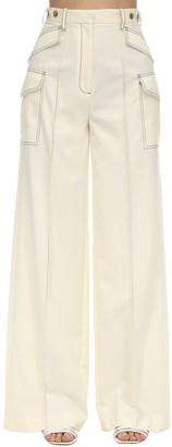 Rokh Contrast Stitching Viscose Blend Pants