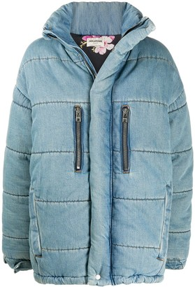 Zadig & Voltaire Denim Puffer Coat