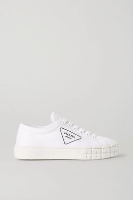Prada Logo-print Gabardine Sneakers - White