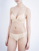 Simone Perele Caresse jersey and stretch-lace underwired plunge bra
