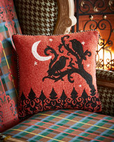 Mackenzie Childs MacKenzie-Childs Midnight Crows Halloween Pillow