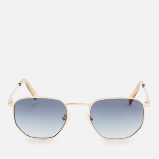Le Specs Women's Alto Metal Frame Sunglasses - Bright Gold Smoke