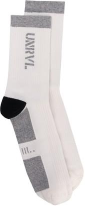 Unravel Project Logo Knit Socks