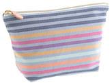 J.Crew Stripe zip pouch