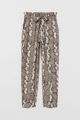 H&M Paper-bag Pants