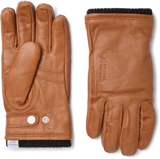 Norse Projects Hestra Utsjo Wool Blend-Lined Full-Grain Leather Gloves - Men - Brown