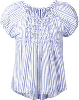 Bellerose striped cap sleeve blouse - women - Cotton - 1