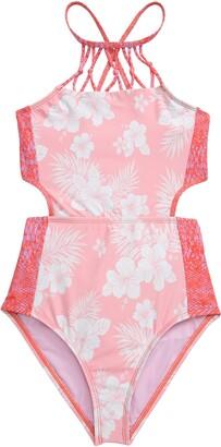 Heart And Harmony Luau One-Piece Monokini Swimsuit