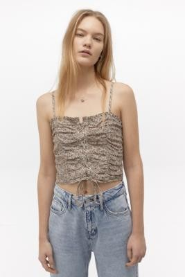 Urban Outfitters Joni Lace-Up Cami - Pink S at
