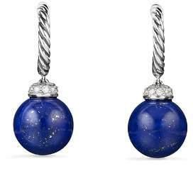 David Yurman Solari Drop Earrings with Diamonds & Lapis Lazuli