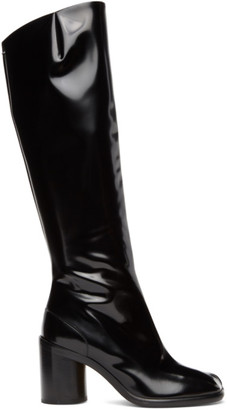 Maison Margiela Black Patent High Tabi Boots