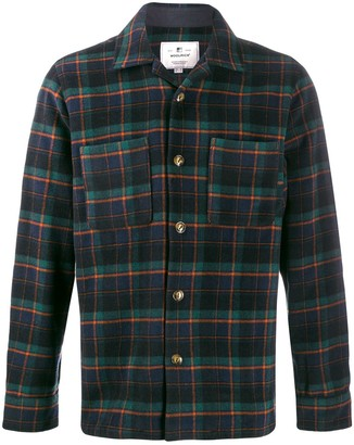 Woolrich check pattern long sleeve shirt