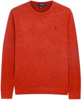 Polo Ralph Lauren Grey Slim Wool Blend Jumper