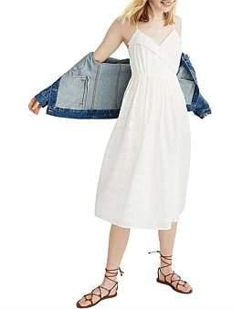 Madewell Overlay Pleated Retro Dress
