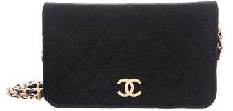 Chanel Jersey Quilted Wallet On Chain
