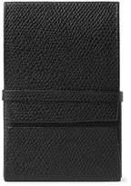 Valextra Pebble-grain Leather Business Cardholder - Black