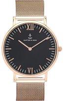 Kapten And Son Men's Campus CAMPUS-BLACK-ALL BLACK-ROSE -40MM Rose Leather Quartz Dress Watch