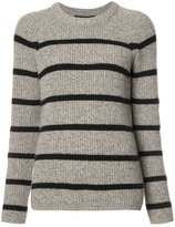 Jenni Kayne cashmere striped jumper - women - Cashmere - L