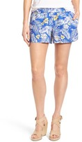 KUT from the Kloth Women's Gabrielle Print Linen Shorts