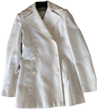 Dolce & Gabbana White Wool Coats