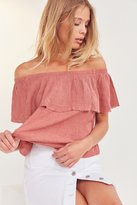 Ecote Winona Ruffle Off-The-Shoulder Top