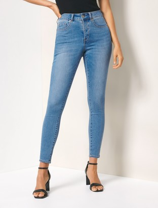 Forever New Hailey Mid-Rise Curvy Jeans - Brazil Blue - 4