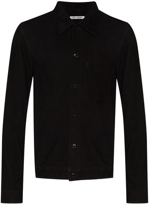 Our Legacy Button-Up Suede Shirt Jacket