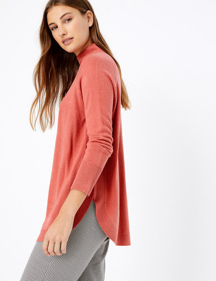Marks and Spencer Cashmilon Curved Hem Relaxed Fit Jumper