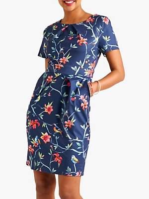 Yumi Tropical Pocket Dress, Navy
