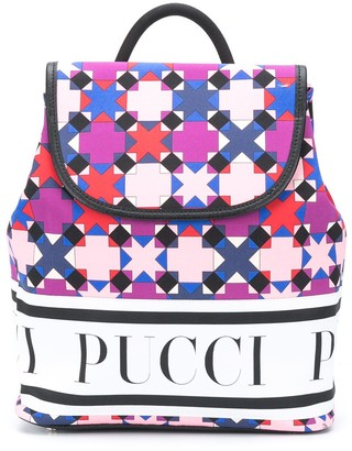 Emilio Pucci Junior Kaleidoscope-Print Backpack